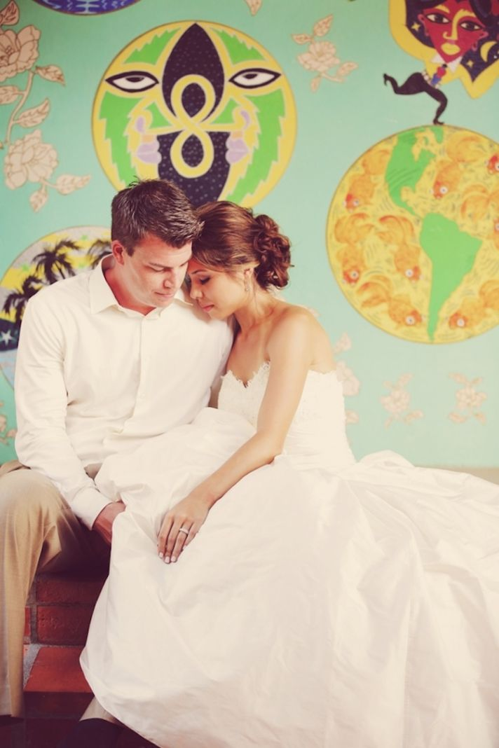 Real Wedding couple in St Lucia