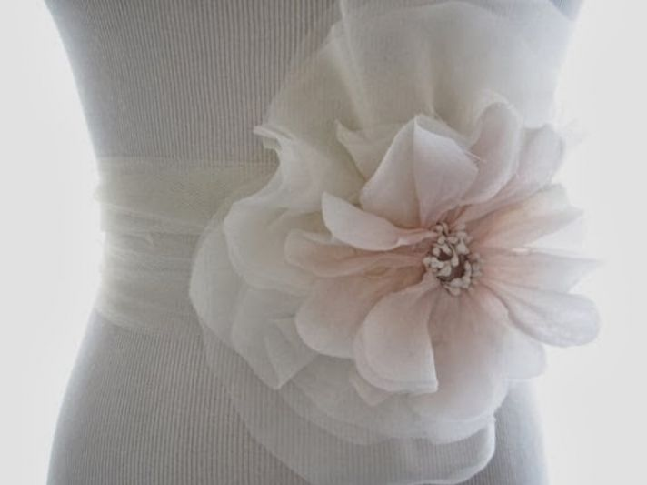 Large floral sash from Abigail Grace Bridal