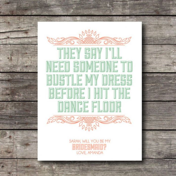 They say bridesmaids stationery