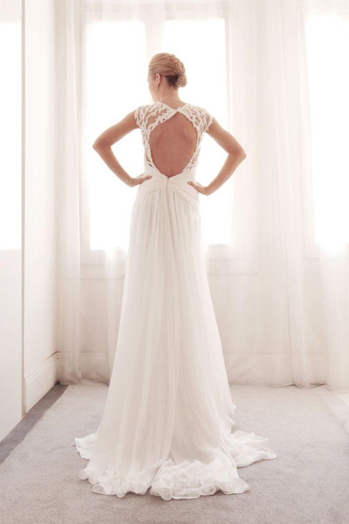 Wrap wedding gown by Gemy Bridal
