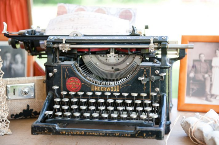 Vintage typewriter for guestbook
