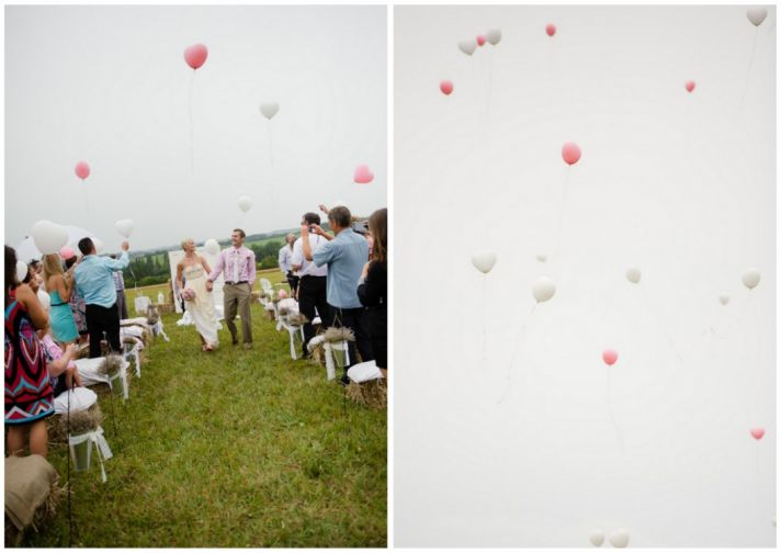Balloon celebration for the ceremony