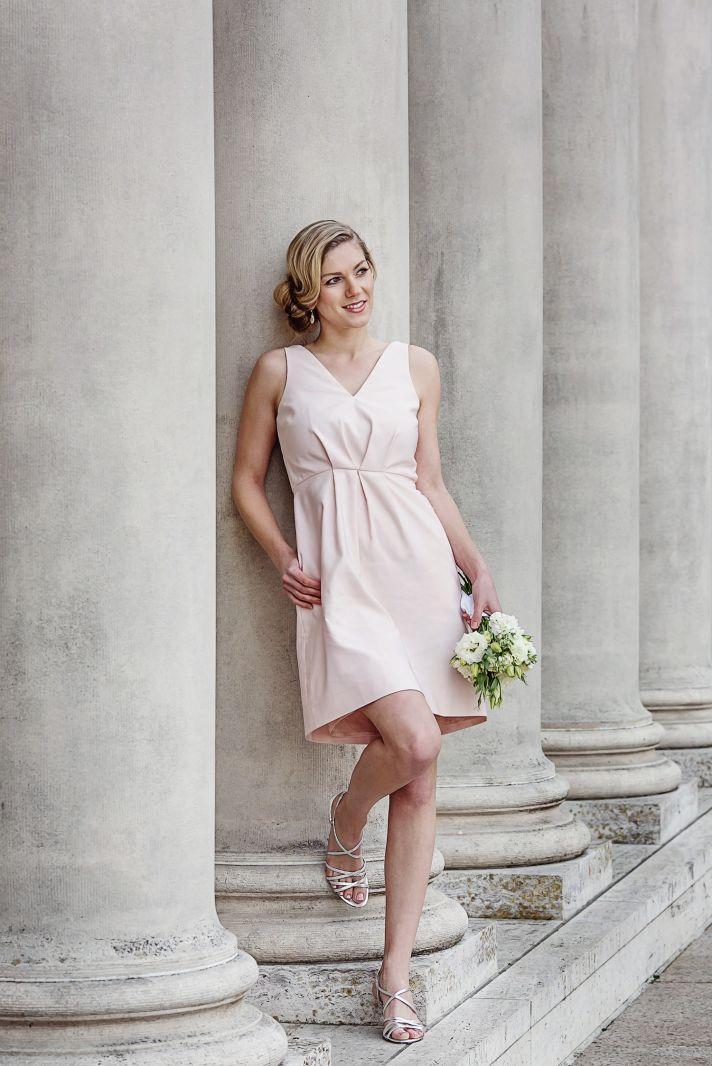 Veronica pink bridesmaids dress by Weddington Way