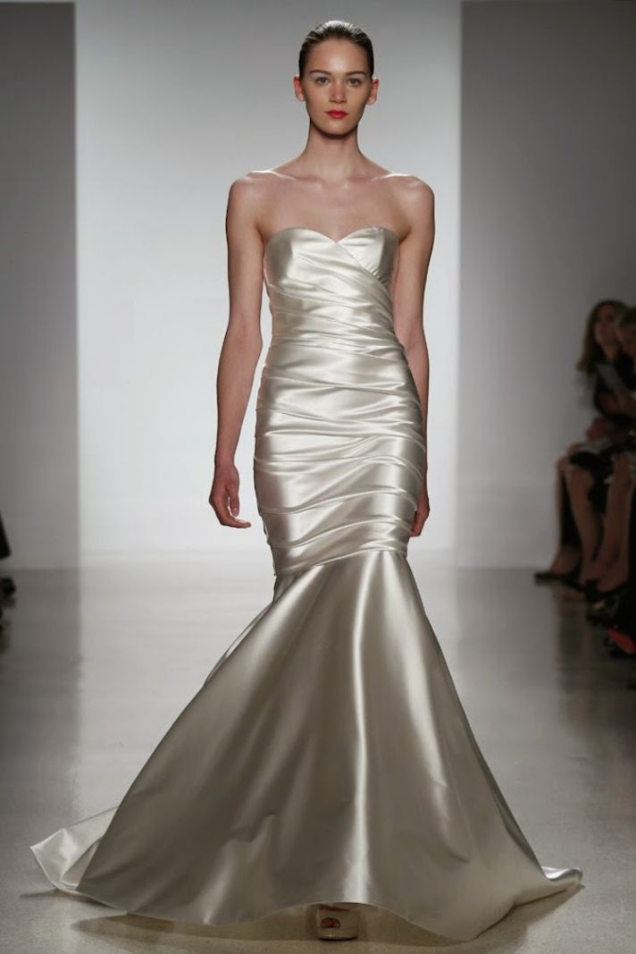 Wedding gown with sheen from Kenneth Pool