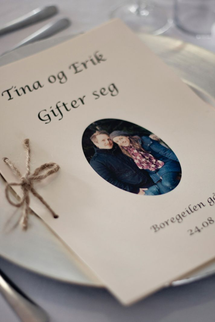 Norwegian real wedding invitation