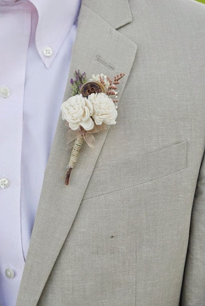 Groom s boutonniere from William and Willow