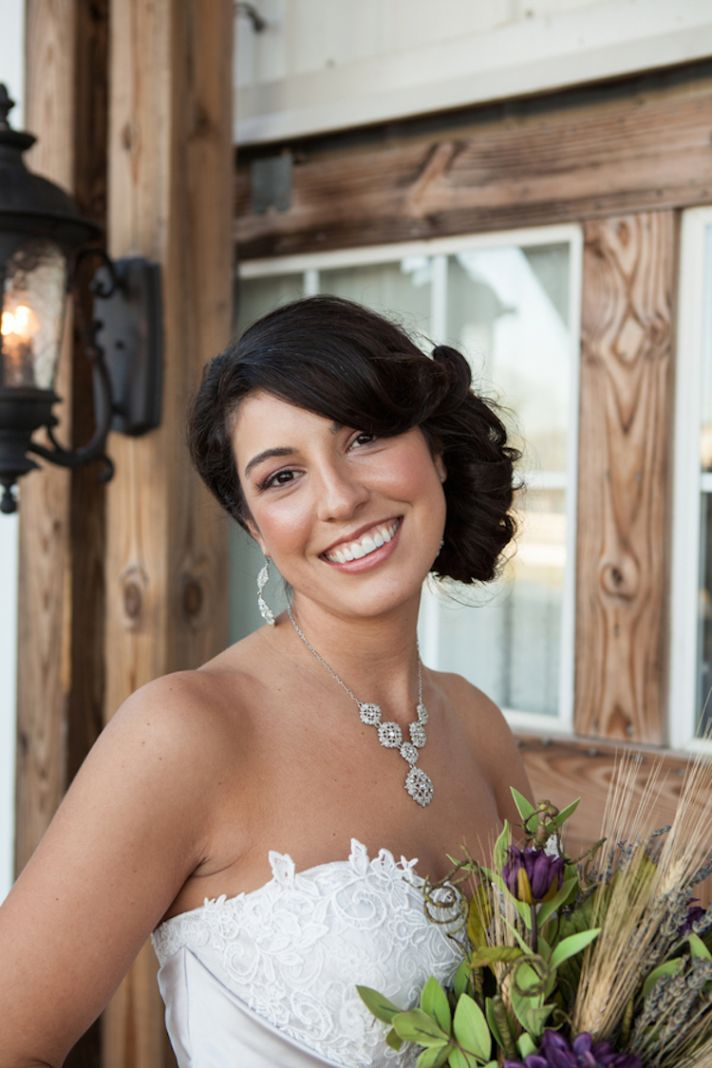 Gorgeous brunette bride