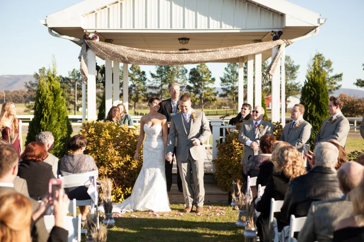 Sunny outdoor ceremony