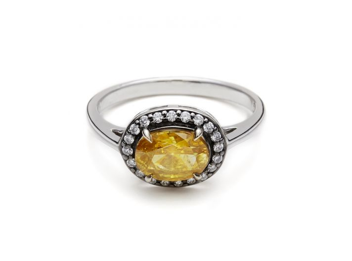 Yellow engagement ring