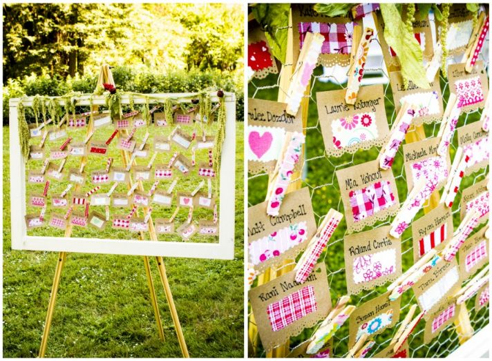 Cute clip escort cards