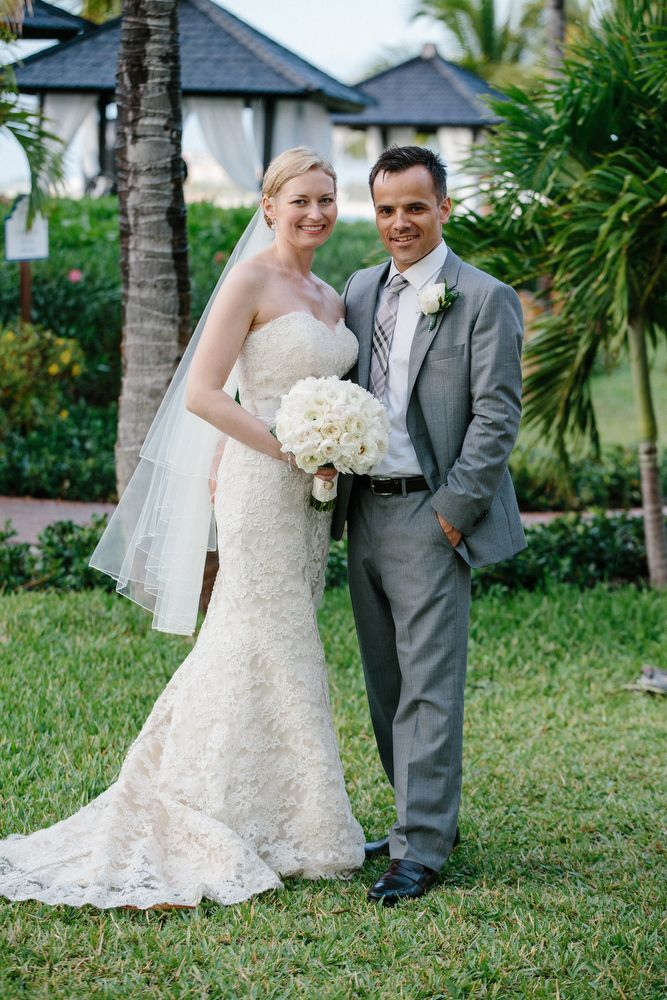 Real wedding couple in Turks and Caicos