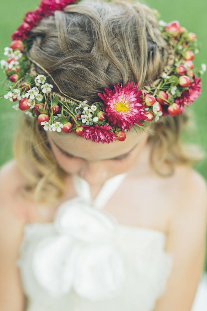 Flower girl head wreath