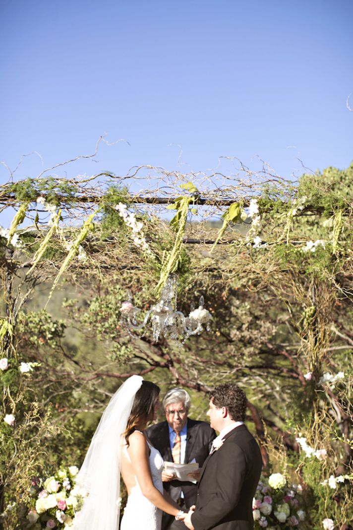 Gorgeous winery ceremony arbor
