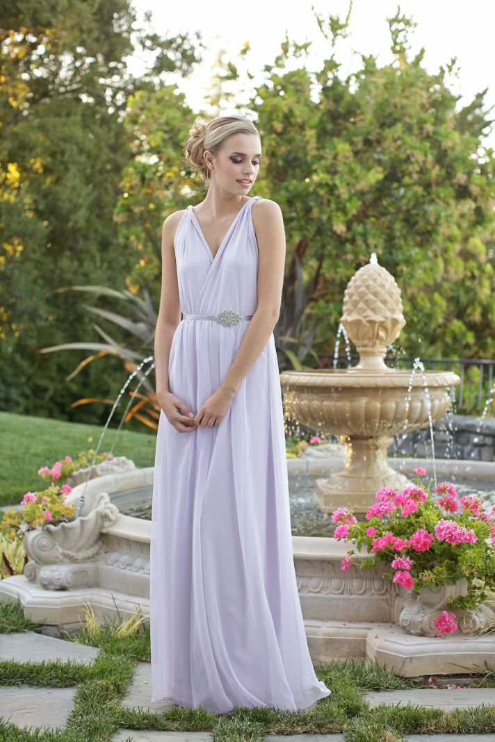 Grecian style bridesmaids dress