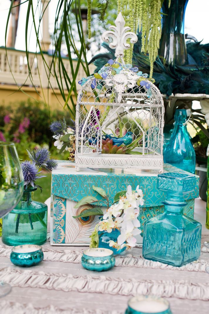 Blue card table inspiration