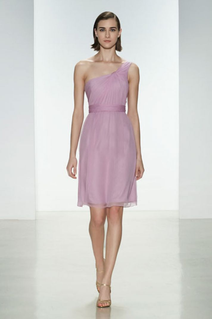 One Shouldered Chiffon