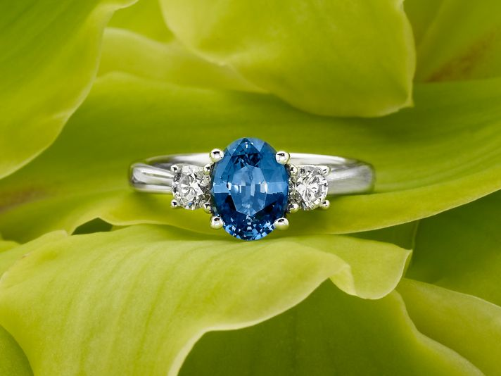 Classic Three Stone Sapphire Ring