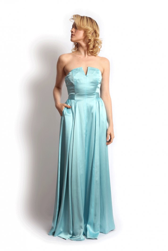 Strapless Soft Turquoise