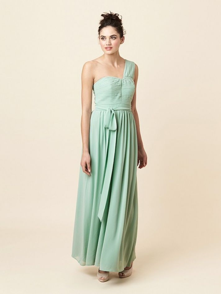 Draping Roman Inspired Bridesmaid Dress in Mint