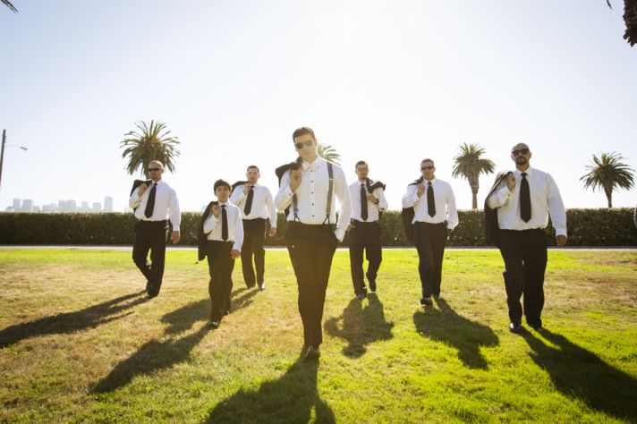 Groomsmen Looking Fly