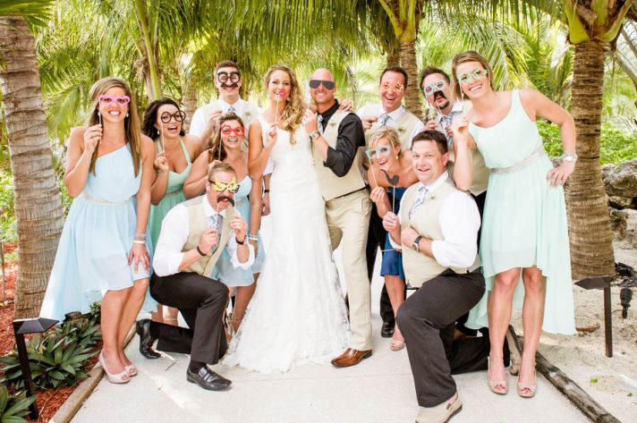 Goofy and Fun Wedding Party Photography