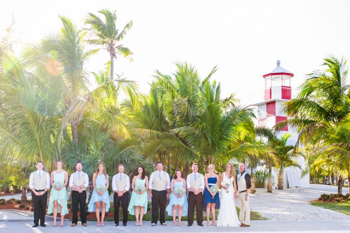 Wedding Party in Front of a Lighthouse