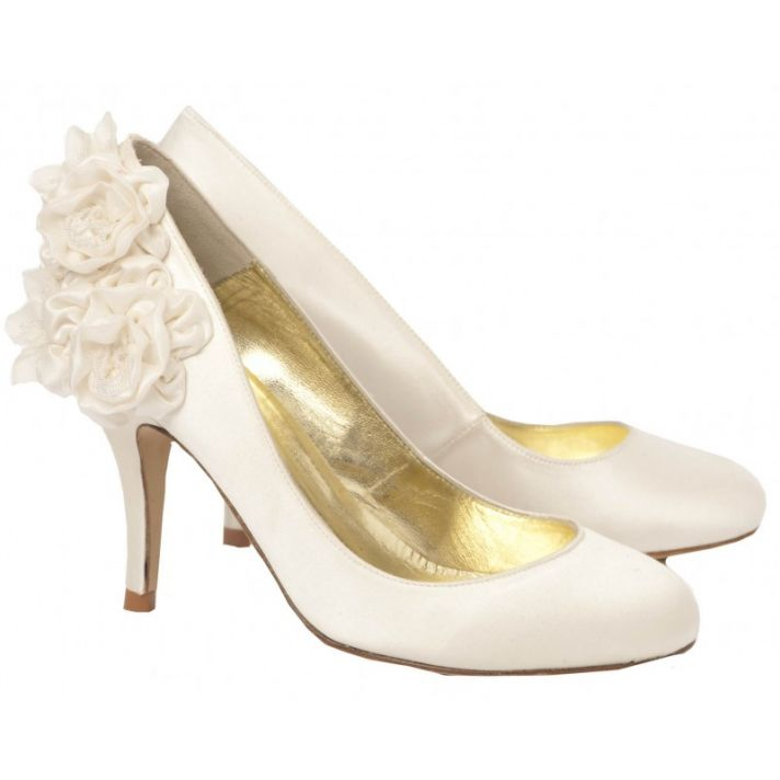 Josephine Bridal Shoe with Silk Flower Detail