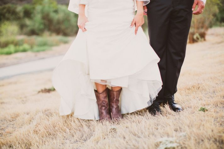 Cute Cowgirl Boots Under Dress