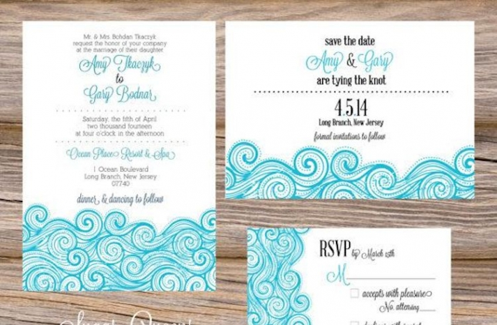 Ocean Waves Summer Stationery