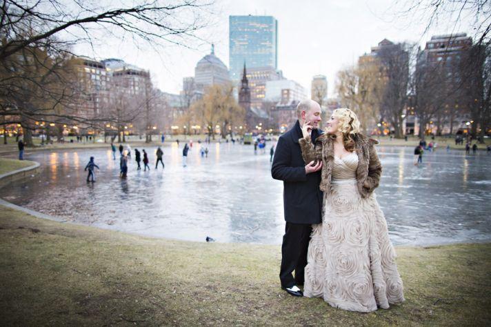 Urban Winter Wedding Photography
