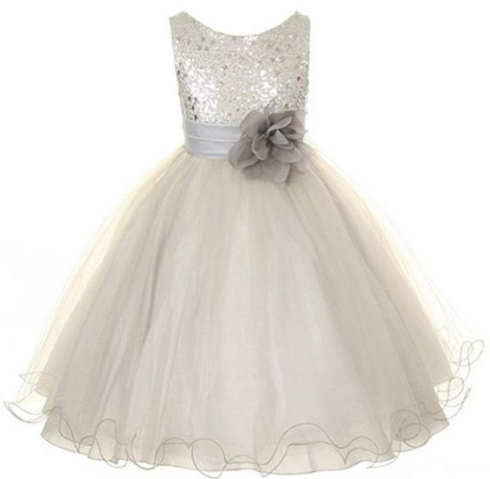 Baby Girl Dresses For A Wedding 16 Inspirational Silver Tulle with Sparkle