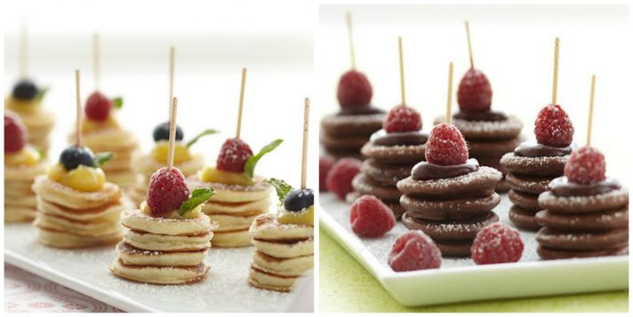 Mini Pancakes with Fruit