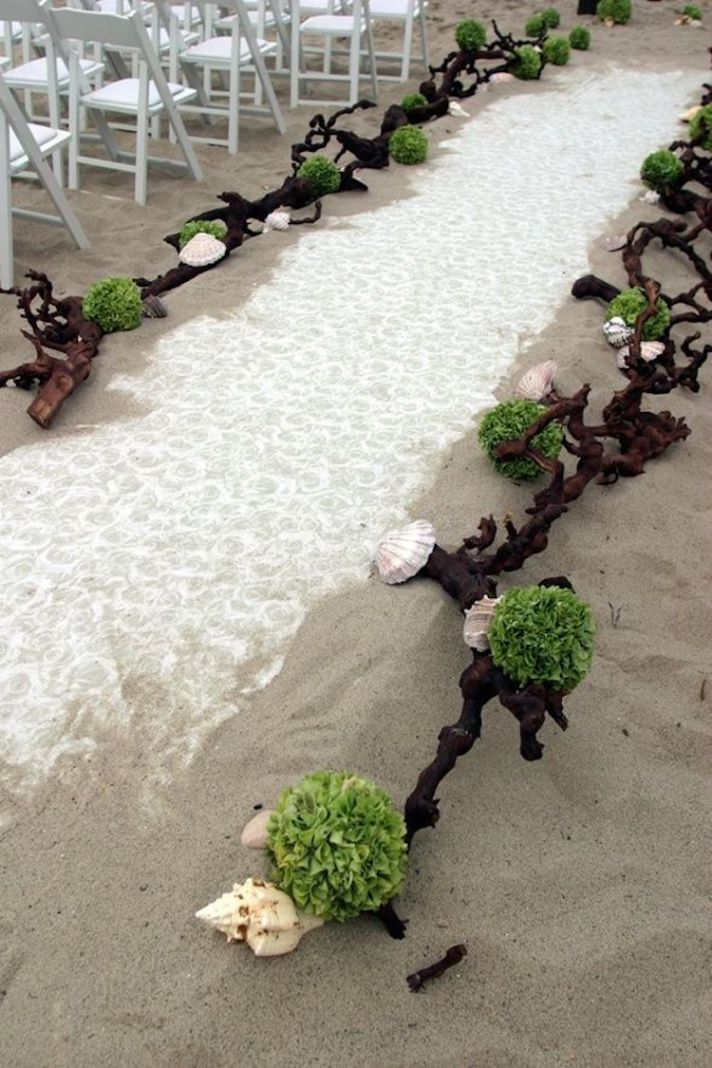 Amazing wedding ceremony aisle decor inspiration crazyforus for Wedding walkway