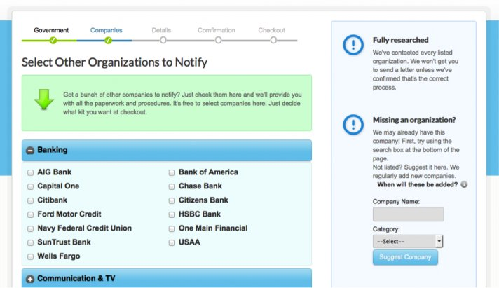 Organizations To Notify