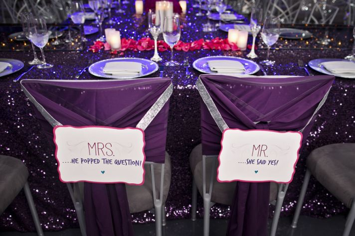 Customized Mr and Mrs Chair Signs