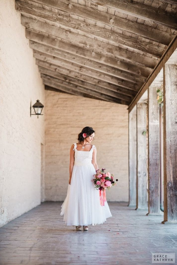 Sweet and Flowy Bohemian Bridal Gown