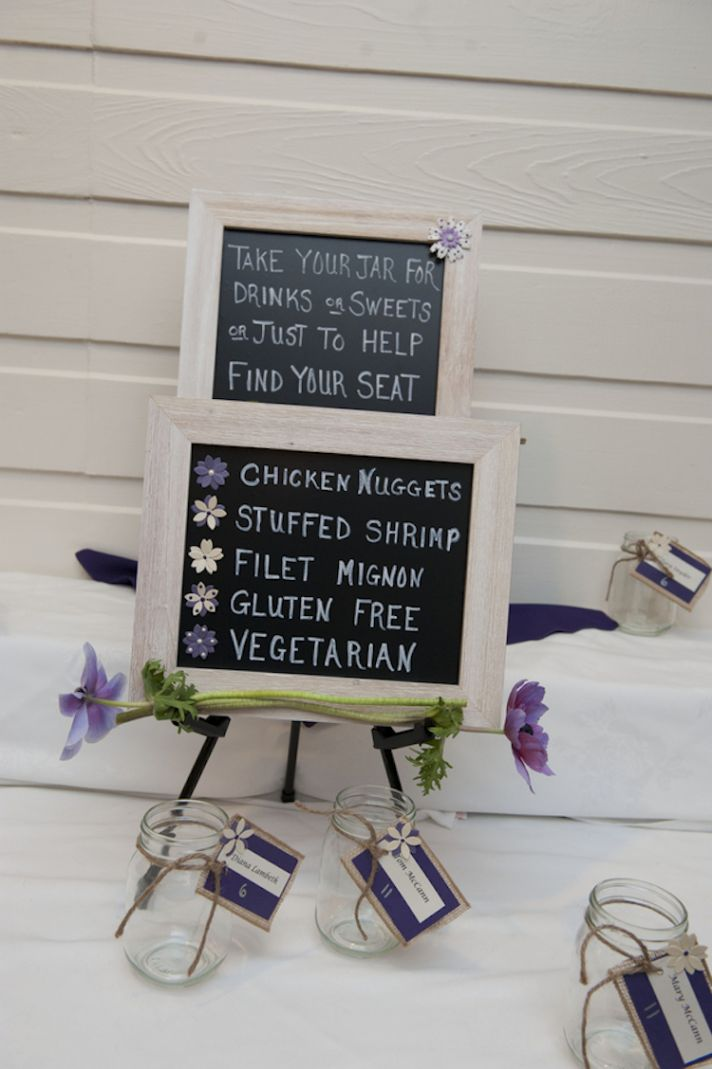 DIY Reception Menu Sign