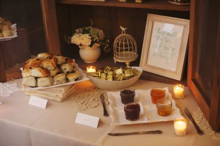 Biscuits and Jam at the Reception