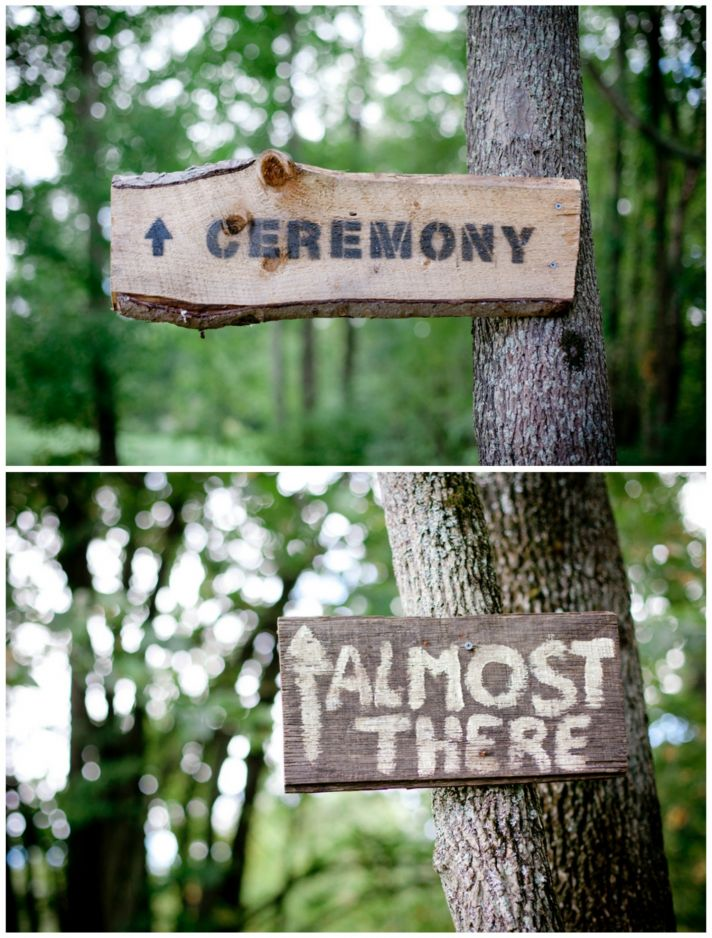 Rustic Wooden Direction Signs