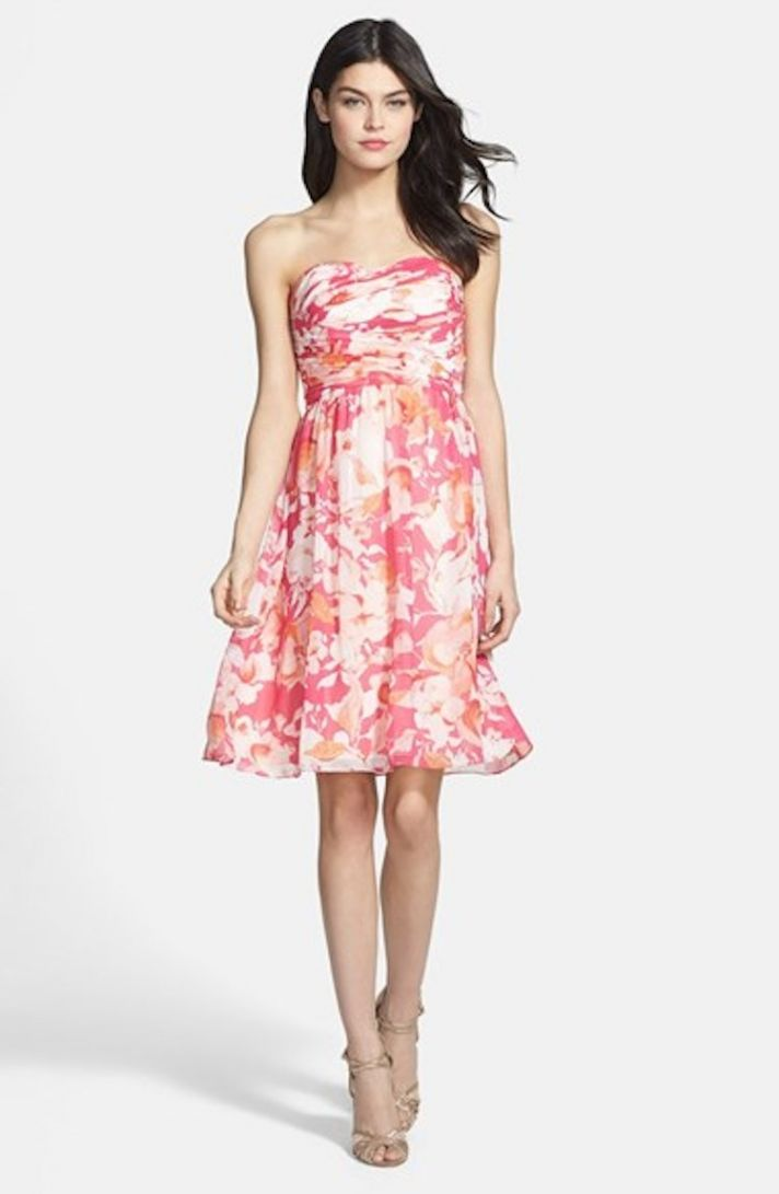 Get the Look At Any Budget: Patterned Bridesmaid Dresses