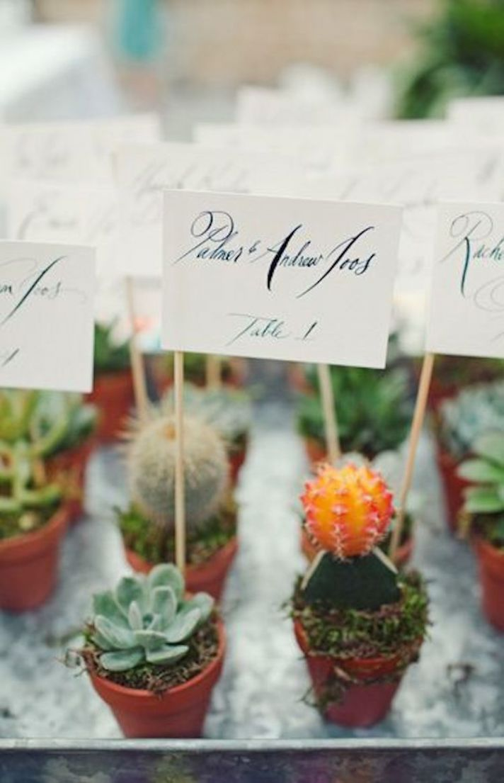 Lead Guests To Their Seats with Style with These Escort Cards