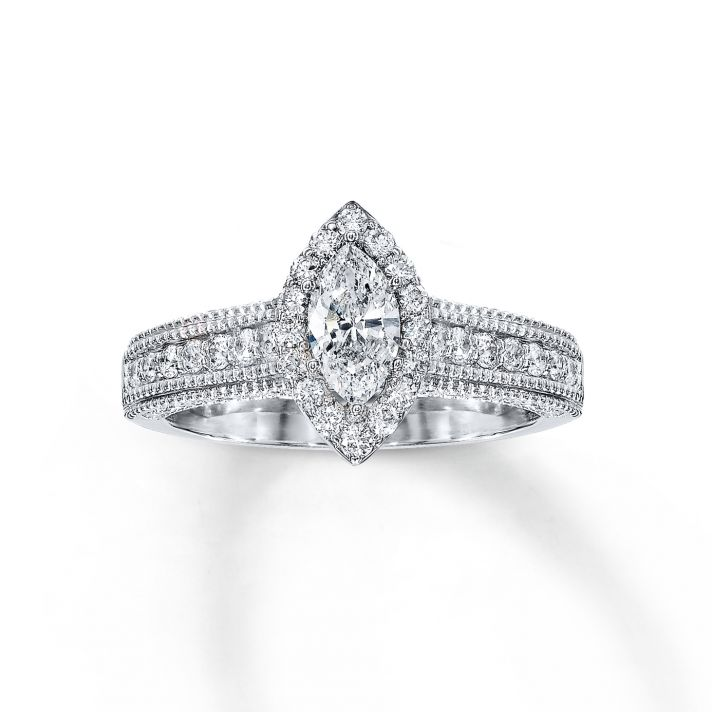 marvelous marquise diamond engagement ring from jared - Wedding Rings Jared