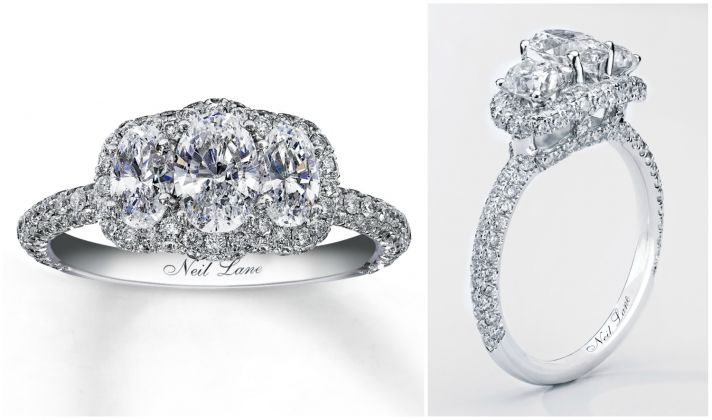 simply beautiful three stone engagement ring from jared - Jared Wedding Rings
