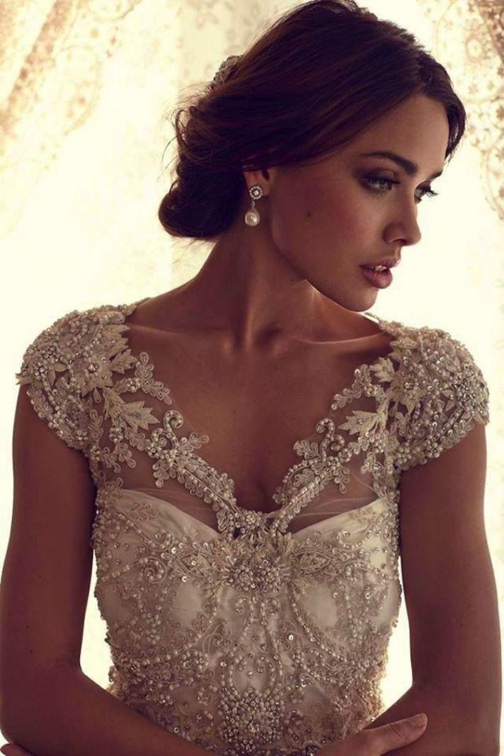 For all the girls that love the bling check out these for Wedding dress bling detail