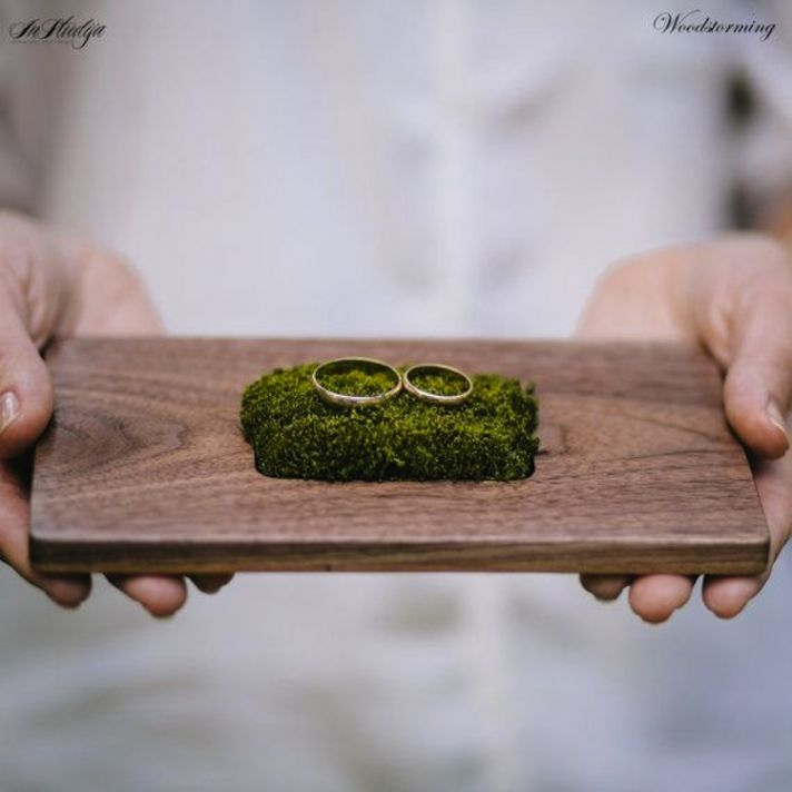 Wooden Wedding Ring Holder