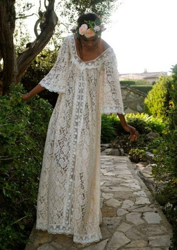 Long Lace Dress Non Fitting