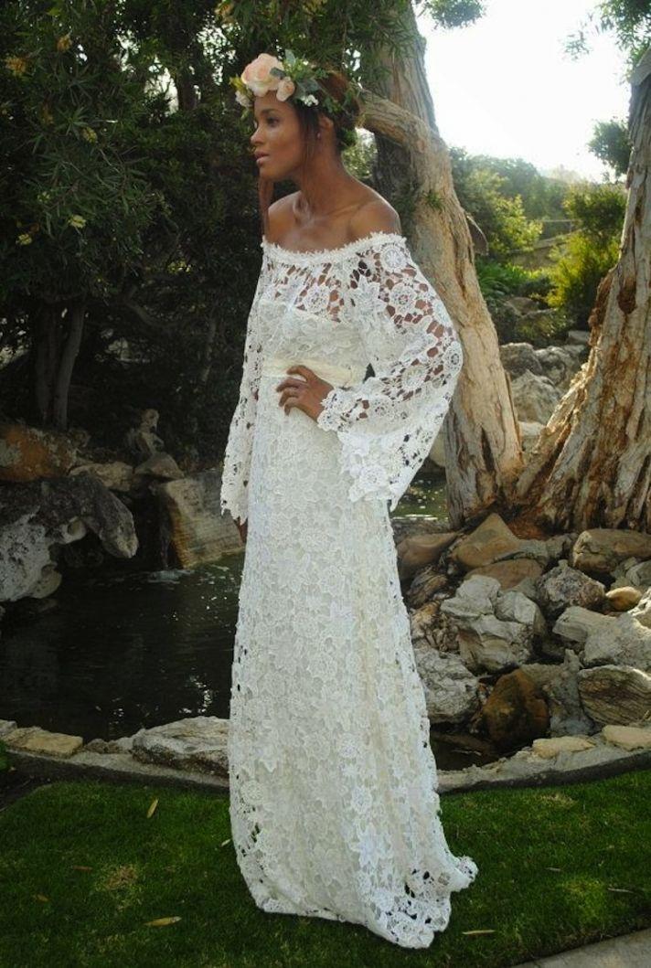Long Large Lace Dress