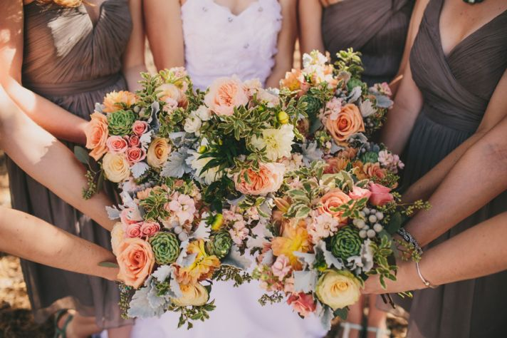 Pastel Wedding Bouquets