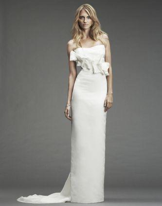 Nicole miller wedding dress style im0005 onewed for Nicole miller strapless wedding dress